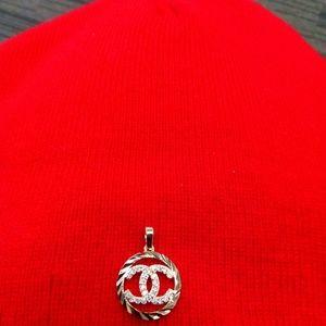 Gold Chanel pendant
